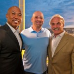 Jerry, Rocky Bleier & Hines Ward, Super Bowl Champions from the Pittsburgh Steelers.